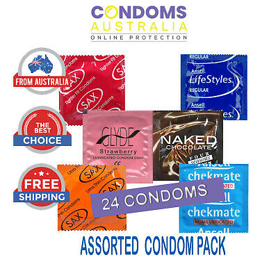 Assorted Sampler Condom Pack (24 Condoms) FREE SHIPPING