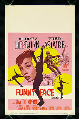 Funny Face * Original Window Card Movie Poster Dance Audrey Hepburn Nm-M 1957
