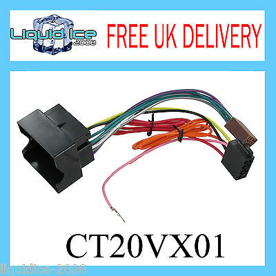 Ct20Vx01 Vauxhall Opel Astra Corse Iso Lead Stereo Head Uint Harness Adaptor