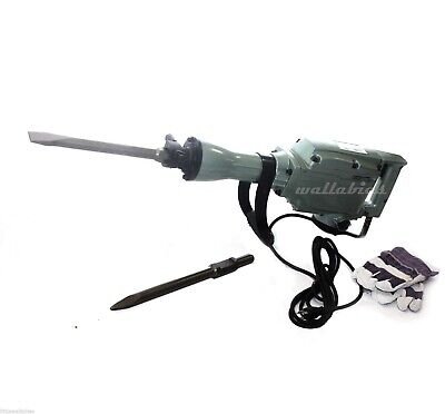 1240W ELECTRIC DEMOLITION JACK HAMMER CONCRETE BREAKER 1400RPM + 2 Bits