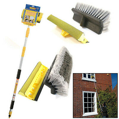 Aluminium Brush Extendable 3M 9Ft Telescopic Car Van Wash Water Home Window New
