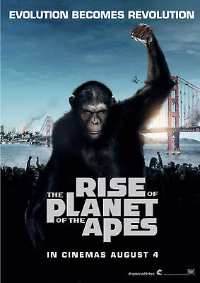 Rise of Planet of the Apes - A3 Film Poster-FREE UK P&P