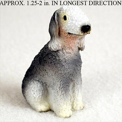 Bedlington Terrier Mini Resin Hand Painted Dog Figurine