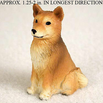 Finnish Spitz Dog Mini Resin Hand Painted Dog Figurine