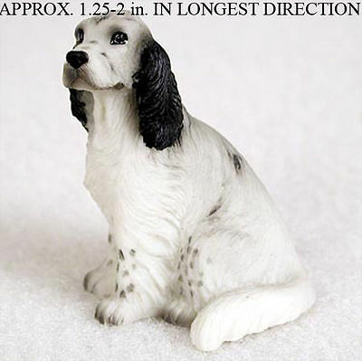 English Setter Mini Resin Hand Painted Dog Figurine Blue