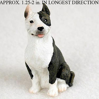 Pit Bull Mini Resin Hand Painted Dog Figurine Brindle