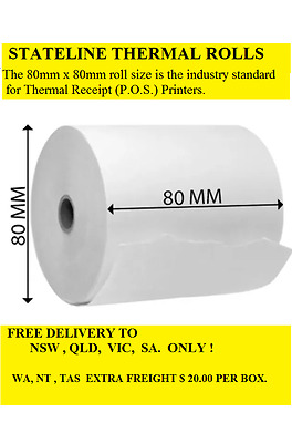 100..80mm x 80mm  THERMAL  RECEIPT  ROLLS ( 78 METER LENGHT  )