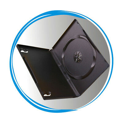 100 Standard 14mm Single CD DVD Black Storage Case Box