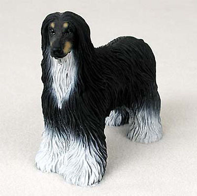 Afghan Hound Figurine Hand Painted Collectible Statue Black