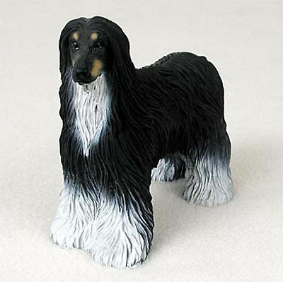 Afghan Hound Hand Painted Collectible Dog Figurine Black