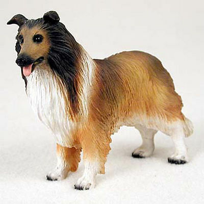 Collie Sable Hand Painted Collectible Dog Figurine