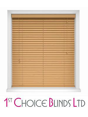 Made To Measure Light Oak Wooden Venetian Blinds Window Blind Real Wood