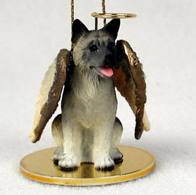 Akita Angel Figurine Statue Ornament Gray