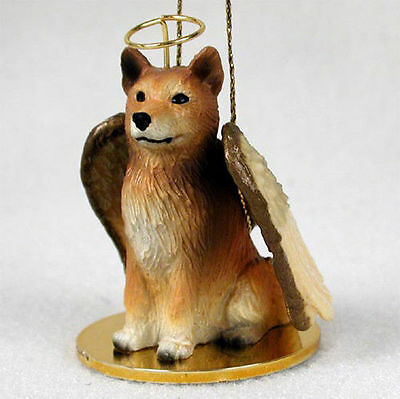 Finnish Spitz Ornament Angel Figurine Hand Painted