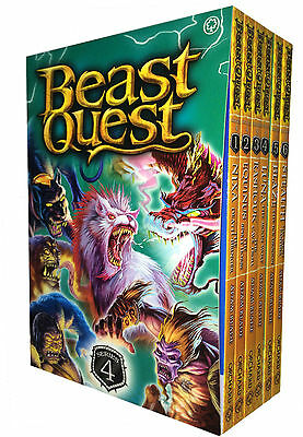 Beast Quest Series 4 Collection Adam Blade 6 Books Set Pack 19 to 24 New PB