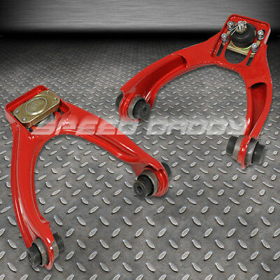 Adjustable Powder-Coated Steel Front Camber Kits 96-00 Honda Civic Lx Ex Si Red