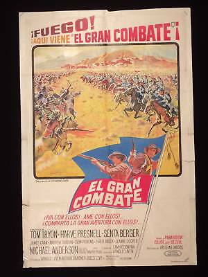 THE GLORY GUYS * TOM TRYON * 1sh ARGENTINE POSTER 1965
