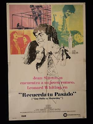 Say Hello To Yesterday * Jean Simmons *Argentine Poster