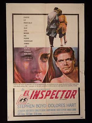 THE INSPECTOR * STEPHEN BOYD * DOLORES HART * POSTER 1s