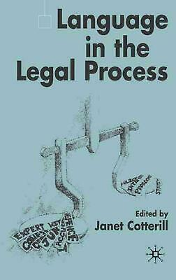 NEW Language in the Legal Process by Paperback Book (English) Free Shipping