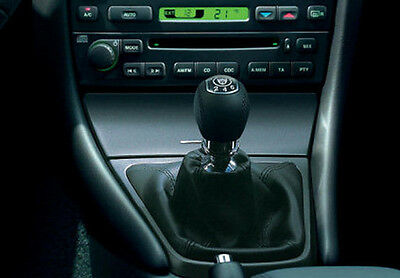 Genuine Leather Shift Boot Gear Gaiter Cover Sleeve fit Jaguar X-TYPE 2001-2009