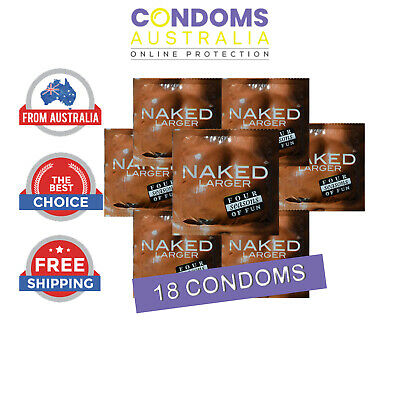 Four Seasons Naked Larger Condoms 18 FREE SHIPPING