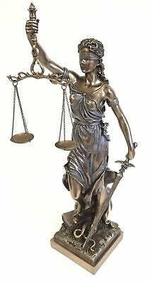 Lady Scales of Justice Lawyer Statue Attorney Judge BAR Justitia Graduate Desk