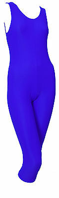 Catsuit Sleeveless Lycra Plain Front Calf Length - Ballet Colours (#GEMMA CALF)