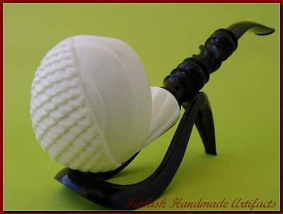 FLORAL Meerschaum Smoking Pipes Pipa Pfeife 海泡石斗 pipe écume de Mer Gift 1463