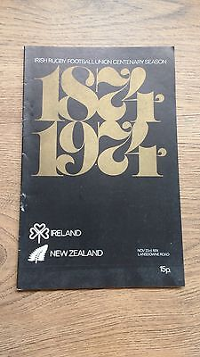 Ireland v New Zealand 1974 Rugby Programme