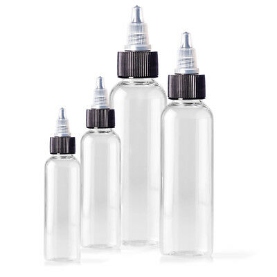 60ml Empty Plastic Bottles - 5 Pack, For Tattoo Ink, Green Soap & Other Liquids