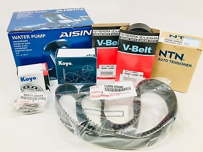 Genuine Timing Belt and Water Pump Kit with Genuine Seals Belts Tensioner