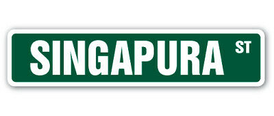 SINGAPURA Street Sign cat breed feline kitty kitten breeder gift