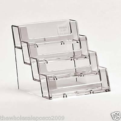 4 Tier Business Card Holder Four Pocket Credit Loyal Card Counter Display