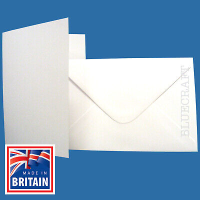 50 x A6 White Blank Greetings Cards With C6 Envelopes - Perfect for Cardmaking