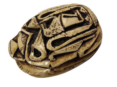 "Scarab Statue Egyptian Handmade Pharaoh Paperweight  Rare XXX 3.9"" LARGE 201"