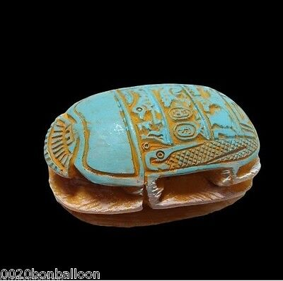 "Handmade Scarab 2.3"" Big Statue Egyptian Pharaoh Paperweight Fridge Magnet  201"