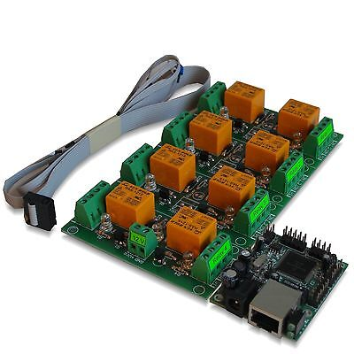 Eight(8) Channel Relay Module Board for Remote Control - LAN, Ethernet, SNMP