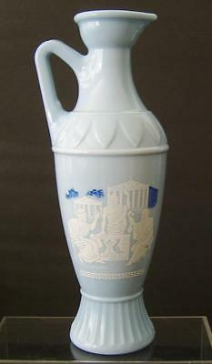 Jim Beam Grecian Milk Glass Decanter Bottle Vintage Socrates Plato Aristotle