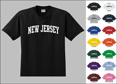 State of New Jersey College Letters T-shirt