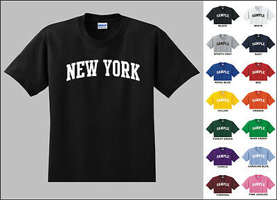 State of New York College Letters T-shirt