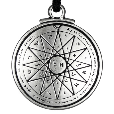 Talisman of Wisdom Solomon Seal Pendant kabbalah Jewelry Pentacle of Mercury