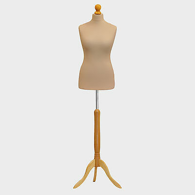 Female Tailors Dummy Bust UK 12/14 Dressmakers Fashion Student Mannequin Display