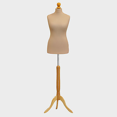 Tailors Dummy Bust Female UK 12/14 Dressmakers Student Sewing Mannequin Display