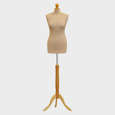 Female Tailors Dummy Cream Dressmakers Fashion Student Mannequin Display Bust