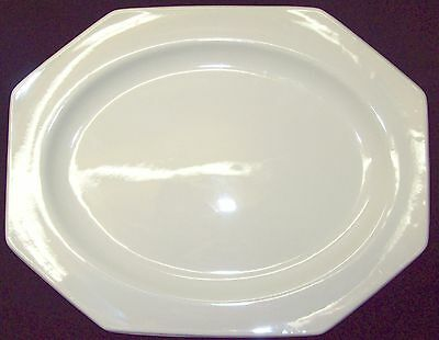ROYAL STAFFORDSHIRE J & G MEAKIN LIBERTY WHITE OCTAGON OVAL SERVING PLATTER 12""