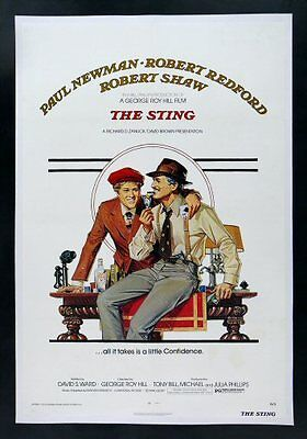 THE STING * CineMasterpieces 1SH MOVIE POSTER ROBERT REDFORD PAUL NEWMAN 1974