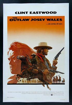 OUTLAW JOSEY WALES * CineMasterpieces WESTERN COWBOY MOVIE POSTER CLINT EASTWOOD