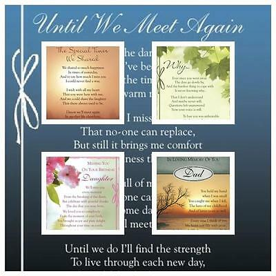 Graveside Bereavement Memorial Cards (a) VARIETY You Choose