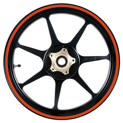 Orange 16 to 19 inch Motorcycle, Scooter, Car Wheel Rim Stripes 10mm wide